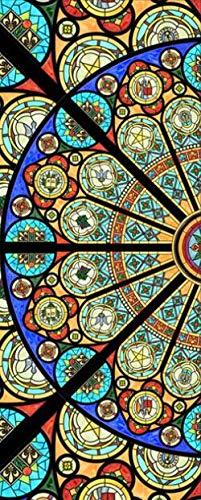 Apoart 3D Wandtapete Zellophan Elektrostatisch Satiniert Fensterglas Aufkleber Fensterfolie Isolierfilm Deckkraft Den Türaufkleber Verschieben250Cmx175Cm