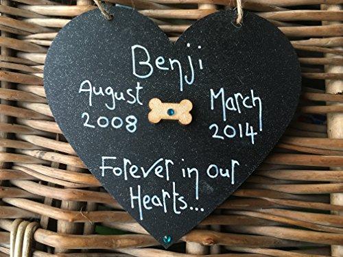Little Miss Scrabbled 'Forever commemorativa per cane a forma di cuore nero in nostro cuore commemorativa per cane, Personalised gifts