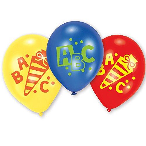 1. Schultag - Dekoset Einschulung - Servietten, Luftballons & Konfetti ABC - 4