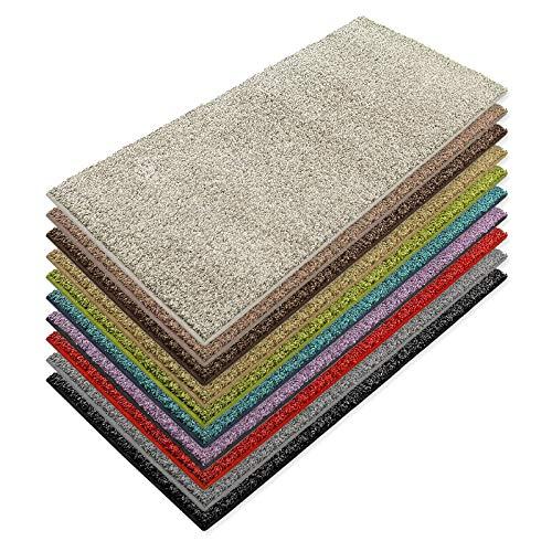 Teppich Läufer Luxury   moderne Shaggy Optik mit flauschigem Hochflor   Teppichläufer in vielen Farben für Flur, Schlafzimmer, Wohnzimmer etc.   viele Breiten und Längen (100 x 100cm, creme)