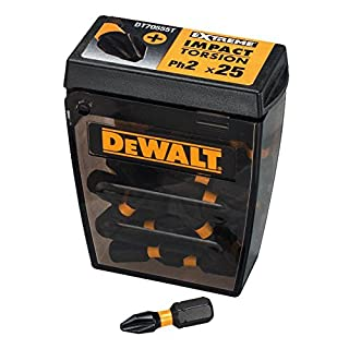 DeWalt DT70555T-QZ Set of 25 Impact Torsion Bits Ph2 25 mm