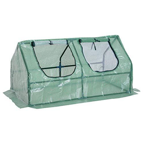 Invernadero de jardin 120x60x60 cm es ideal para flores y plantas. Este invernadero esta construido con estructura de acero y polietileno para proteger tus plantas y quedara perfecto en tu jardin. Características:  Invernadero con estructura de tubo ...