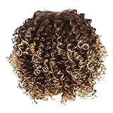 Femmes Mode Explosion Perruque Courte, Malloom Soie à Haute température Respirant Rose Net Longs Cheveux bouclés Perruque tête