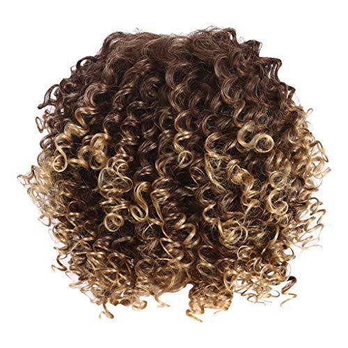 LMRYJQ Mädchen Mode Wigs Hochtemperatur Seidenatmungsaktive Rose Netto lange lockiges Haar Explosion Kopf Perücke ()