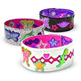 Melissa & Doug Design-Your-Own Bracelets (Arts & Crafts, Easy Tab Closure, Reversible and Adjustable, 4 Double-Sided Bracelets)