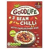 GOODLIFE 3 chiles con frijoles y arroz de coliflor 400g (6)