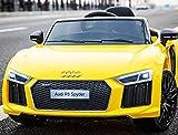 Audi R8 Spyder Kinder Elektroauto, Original lizenziert mit Ledersitz, 2x Motor, 12 V Batterie, 2.4 Ghz Fernbedienung,...