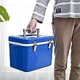 8L Nevera Rígida Refrigerador de Coches Mini refrigerador Hogar Incubadora refrigerada Refrigerador de Doble Uso Incubadora para Acampar en la Playa Picnic Hielo Alimentos aislados