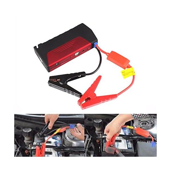 rungao 68800mAh Portable Car Jump Starter Pack Booster cargador de batería 2USB banco de la energía con Mini compresor de aire