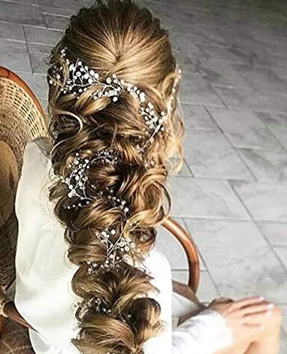 schmuck Kristall und Perle Haar Weinrebe Brautschmuck Hochzeit Kopfstück Brautschmuck Haarschmuck Haarschmuck Haarschmuck Brautschmuck Zweig Hochzeit Tiara ()
