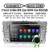 En Dash GPS reproductor de DVD para Ford Mondeo, S-Max, Focus, C-MAX hizpo Android 7.1 estéreo de radio de coche doble Din 7 pulgadas pantalla táctil apoyo espejo Enlace 4 G WiFi USB SD Cam-in