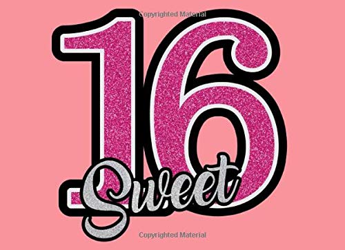 Sweet 16: Sweet 16 Guest Book Party Keepsake For Family And Friends To Write In