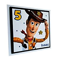 PERSONALISED TOY STORY WOODY HAPPY BIRTHDAY CARD - Handmade layered greeting card with Children