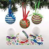 Baker Ross Kits de Boules de Noël mosaïques (Paquet de 4) - Loisirs créatifs de Noël pour Enfants...