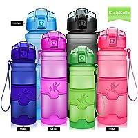 KollyKolla Sport Trinkflasche, BPA-frei Auslaufsicher Wasserflasche, 380ml/500ml/700ml/750ml/1L- Tritan Sportflasche Kohlensäure Geeignet Kunststoff mit Filter für Kinder, Schule, Mädchen, Fahrrad