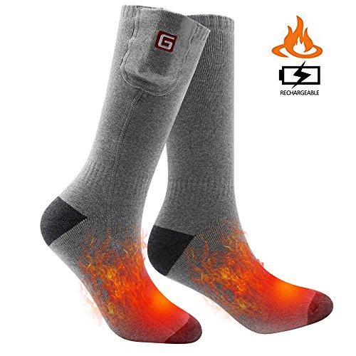 Svpro wiederaufladbare elektrische beheizte Socken batteriebetriebene komfortable thermische Socken, kalte Wetter thermische Socken Sport Outdoor Camping Wandern warme Winter Socken Männer Frauen