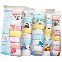 """CuteOn Algodón suave del bebé Estropajos las toallas del bebé, paquete de 8, 11.8 """"x 11.8"""""""