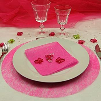 Santex 2812-15 Uni Set de Table Tissu Fuchsia 34 x 34 x 0,01 cm