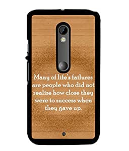 Fuson 2D Printed Quotes Designer back case cover for Motorola Moto X Style - D4551