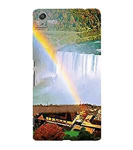 Fiobs Designer Back Case Cover for Sony Xperia C6 Ultra Dual (Niagara Fall Falls Water Canada Nature)
