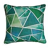 ALIKER Tropische Regenwald Serie Kissen Büro Blau Grün Gestreiftes Geometrisches Kissen Moderne Einfache Heim Sofa Kissen (Farbe : 02, größe : 60 * 60cm)