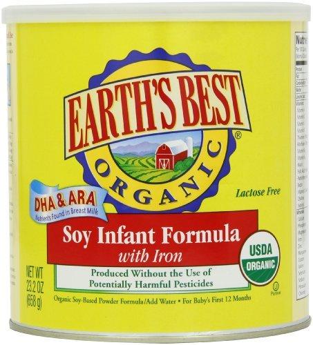 Earth's Best Bio Soja Formel mit Eisen, 23,2Unze Kanister Baby, Neugeborene, Kinder, Kind, Kleinkind