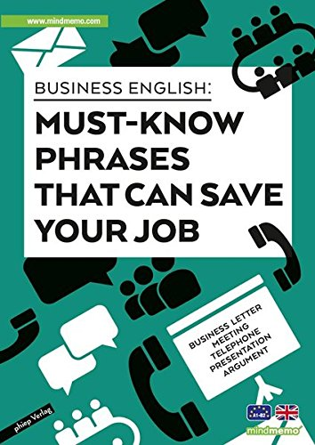 Business English - Must-know phrases that can save your job: genial-einfache Lernhilfe - PremiumEdition (foliert) - Din A4 6-seiter + selbstklebender Abhefter