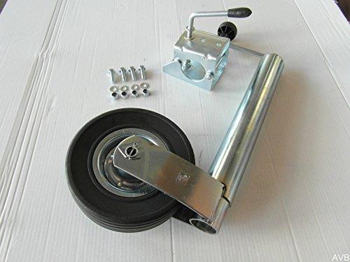 Schwerlast Stützrad 300 kg Ø 60 mm + Klemmhalter Klemmschelle + Schraubensatz