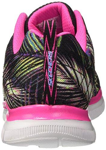 Skechers Appeal 2.0 Tropical Breeze, Sneakers Basses Fille Noir (Bkmt)