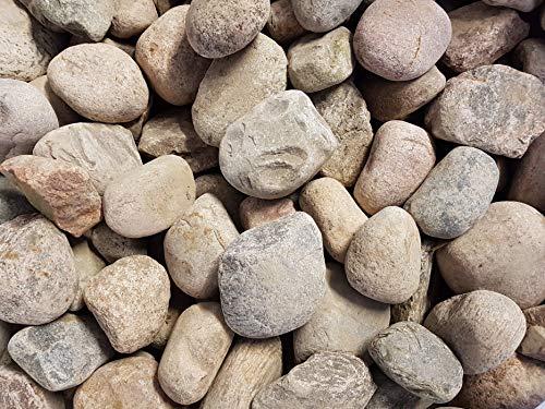 Der Naturstein Garten 25 kg Flusskiesel Granit Kiesel 9-14 cm - Kieselsteine Flußkiesel Gletscherkiesel Kies Zierkies Gabionensteine - Lieferung KOSTENLOS