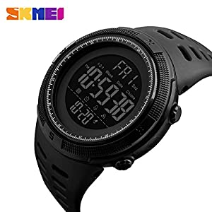 SKMEI Sports Digital Dial Men's Watch with Water Resistant, Alarm, Stopwatch, LED Light, Dual Time