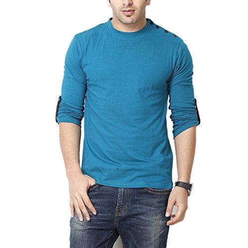 GRITSTONES Men's Cotton T-Shirt GSFS60208TURQ (X-Large)