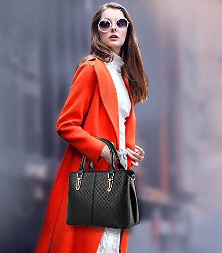 Sunas 2017 nuova borsa semplice portafoglio La signora borse in rilievo spalla casuale della borsa del messaggero della borsa nero