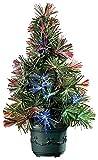 Lunartec Mini Weihnachtsbaum: LED-Weihnachtsbaum mit Glasfaser-Farbwechsler (Mini LED Weihnachtsbaum)