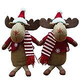 Decorazione Di Natale In Seduta Renne Di Natale Alci Arredamento Di Natale 2 Pezzi