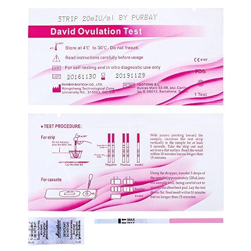 50 x David Ovulationstest Streifen 20 miu/ml LH ovulation test