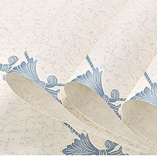 YUELA Ya, Tapeten klassische Three-Dimensional vereinfachte europäische Argyle Gemusterten 3D-Bump Schaum Umweltfreundliche Non-Woven Tuch Wallpaper Schlafsofa im Wohnzimmer Tv Hintergrund Tapete Beige 8881, Hellblau 8882 (Dimensional Schaum)