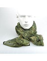 Camuflaje diseño de camuflaje malla transpirable bufanda Wrap máscara Shemagh velo(Germany Freckle)