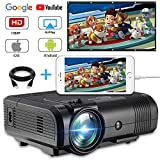 USB Mini Beamer, Weton Upgraded 2400 Lumen LED Video Projektor +70% Heller Tragbarer Beamer Full HD 1080P LED Beamer Home Heimkino Projektor für Smartphones ipad mit Fire TV Stick ,HDMI, USB, VGA, AV
