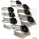 Arian Stainless Steel Kitchen Sink Fixing Clip Clamps (Pack of 8)