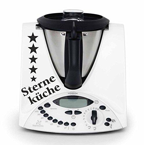 """Preisvergleich Produktbild Thermomix Aufkleber """"5 Sterne Küche"""" hochwertiger,langlebiger Aufkleber, viele Farben zur Auswahl TMX 31 TM31 Thermomix Sticker Skin"""