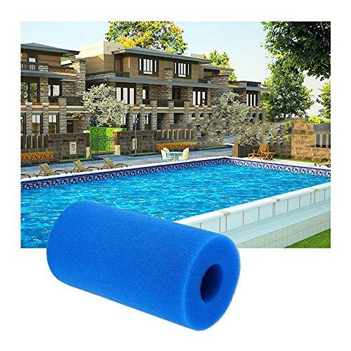 LCLrute Wiederverwendbare Schaumstoffpatrone,Filter Cartridge, Pool-Schaumstofffilter aschbarer Schwamm aus Schwimmbadfilter-Schaumstoff (Blau)