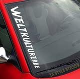 WELTKULTURERBE Aufkleber-Frontscheibenaufkleber Autotuning-Aufkleber Szene-Sticker