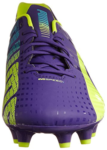 Puma evoSPEED 1.3 FG Herren Fußballschuhe Violett (prism violet-fluro yellow-scuba blue 01)