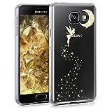 kwmobile Cover per Samsung Galaxy A3 (2016) - Back case custodia in silicone TPU per cellulare - Cover trasparente Design Fata Brillantini oro trasparente