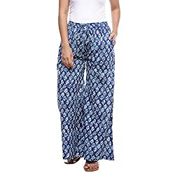Soundarya Cotton Palazzo With Indigo Print