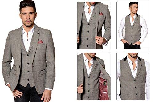 Mens-Marc-Darcy-Designer-Grey-Vintage-Tweed-Herringbone-Check-Blazer-or-Waistcoat