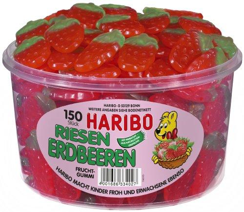 Haribo Riesen Erdbeeren 1.350kg, Inhalt 150 Stück -