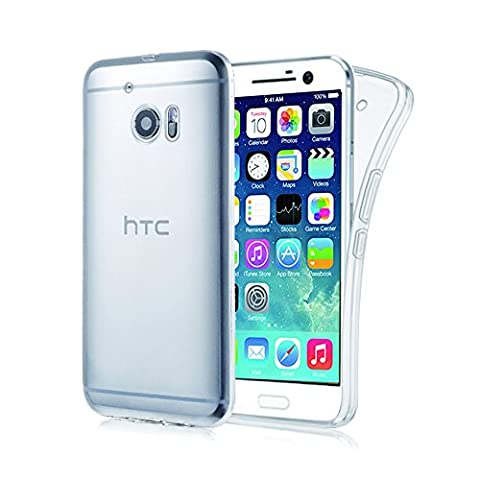 Coque HTC 10 Cover Case Souple Transparente – Etui Premium Gel Silicone - Ultra Mince (0,7mm) Housse Protection Rayures et Chocs TPU Clair Adhérence Parfaite - Protection Invisible Crystal HTC 10