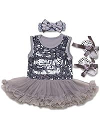 Juleya Enfant Baby Girl Rompers Dress Princess Dresses 3pcs Sets